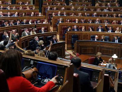 El pleno del Congreso de los Diputados.