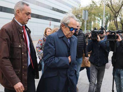 Jaime Botín, el pasado lunes, a su llegada al juzgado.
