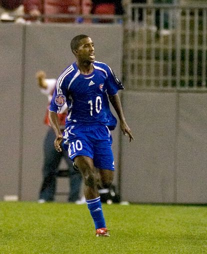 Cuban player Yordany Alvarez before defecting in the match against the United States in the 2008 Beijing qualifiers.