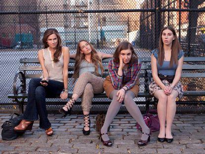 Las protagonistas de 'Girls', con Lena Dunham al frente.