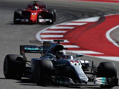 Lewis Hamilton en el GP de Estados Unidos