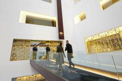 Detalle del interior del hotel Mandarin Oriental de Barcelona, del mismo grupo que ha comprado el Ritz de Madrid