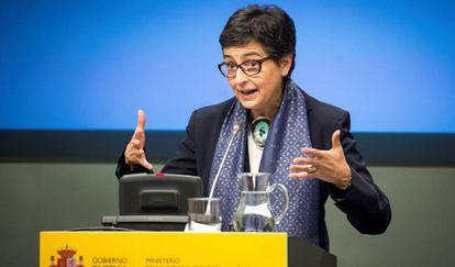 Arancha González Laya, el pasado 19 de febrero en la sede de Exteriores.