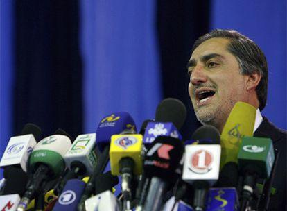Abdulá Abdulá anuncia que no concurrirá a la segunda vuelta de las elecciones presidenciales afganas.