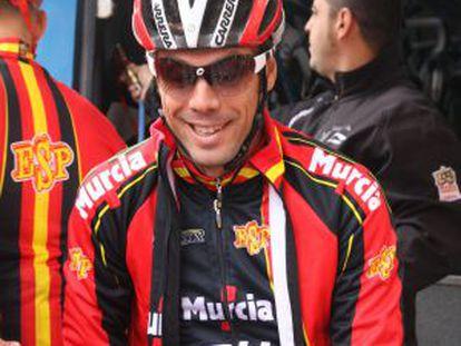 Óscar Freire, en Valkenburgo (Holanda), donde se corre el Mundial.