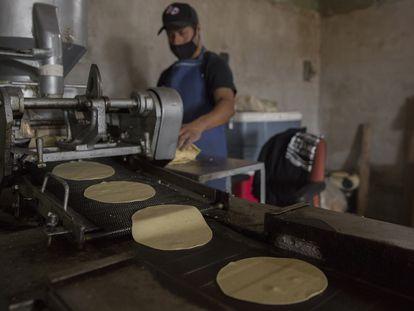 Una tortillería en Tijuana (Baja California), donde el precio promedio es de 20 pesos por kilogramo.