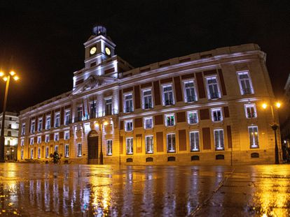The headquarters of the Community of Madrid in Puerta del Sol in a file image.
