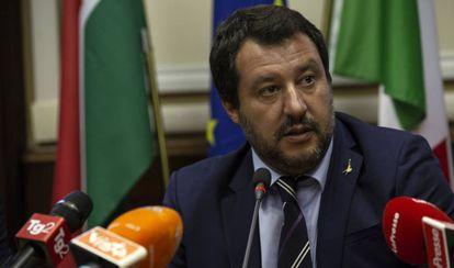 Matteo Salvini, el martes en Milán.