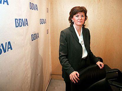 La directora general de la <i>pyme</i><i>, </i> Isabel Barreiro, en la jornada de financiación preferente.