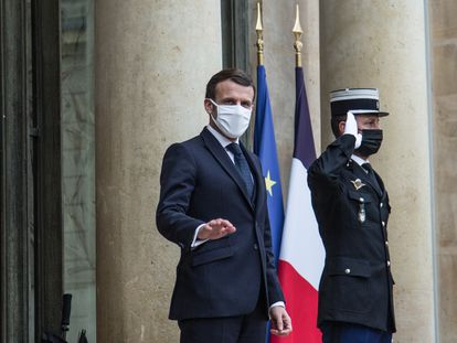 El presidente francés, Emmanuel Macron, el miércoles en el Palacio del Elíseo.