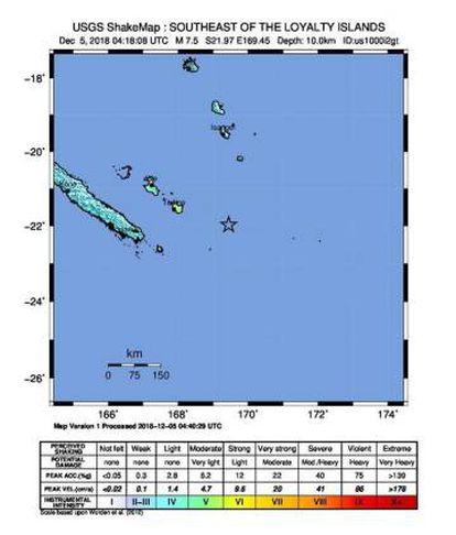La localización del terremoto.