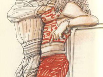 Ilustración de Manuel Alcorlo para los 'Escritos pornográficos', de Boris Vian.