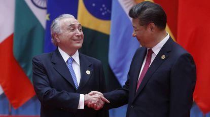 Michel Temer y Xi Jinping, en el G-20.