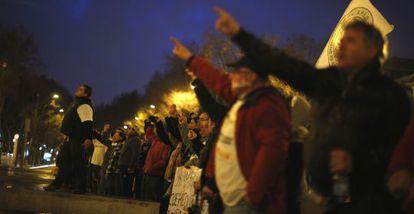 Manifestantes antiausteridad en Lisboa, el pasado día 16.