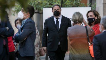 Oriol Junqueras, el pasado 24 de mayo en la toma de posesión de Pere Aragonès como presidente de la Generalitat.