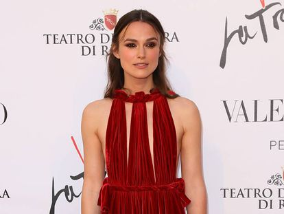 Keira Knightley, la semana pasada en Roma en el estreno de 'La Traviata' en el Teatro Dell' Opera.