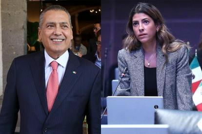 Manlio Fabio Beltrones, expresidente del PRI y su hija, Sylvana Beltrones, senadora de México.