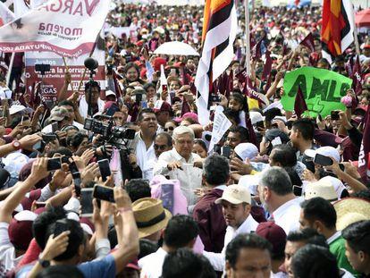 López Obrador durante un acto de Morena, en una imagen de archivo.