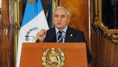 Otto Perez Molina en una conferencia de prensa este jueves.