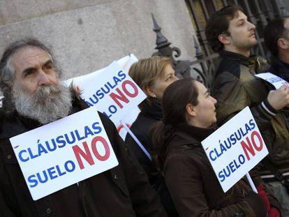 Concentración de afectados por las cláusulas suelo frente al Banco de España.