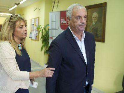 Pachi Vázquez, con la 'número dos' del PSde de Ourense, María Quintas