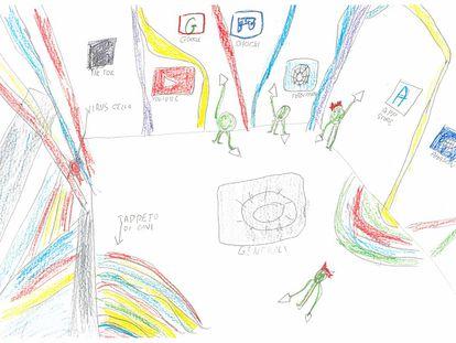 Uno de los dibujos recopilados por Luca Botturi