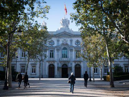 Fachada de la sede del Tribunal Supremo, en Madrid.
