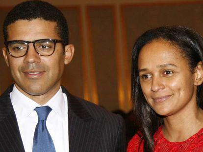 Isabel Dos Santos con su marido Sindika Dokolo.