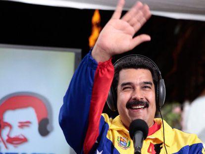 El presidente venezolano, Nicolás Maduro, durante su programa de radio y televisión.