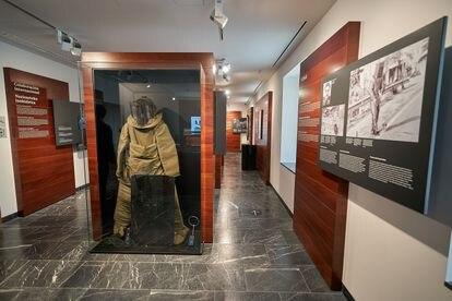 La sala de respuesta policial del museo Fundación Centro para la Memoria de las Víctimas del Terrorismo.