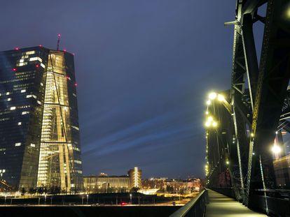 Sede del Banco Central Europeo, en Frankfurt.