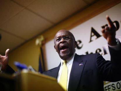 El candidato republicano Herman Cain.