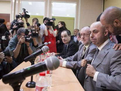 Ziani, el 14 de mayo, en rueda de prensa.