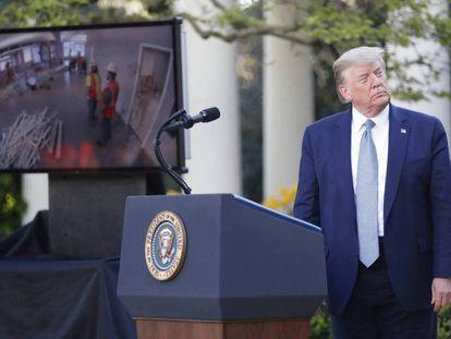 Donald Trump, en una comparecencia ante periodistas. POOL/ABACA GTRES