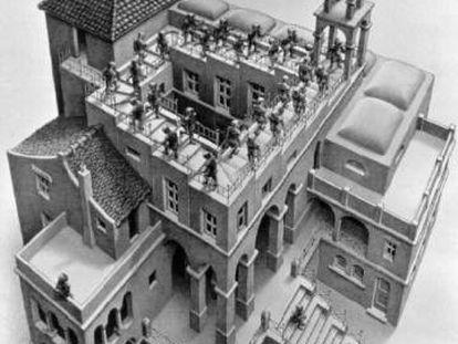 Grabado de M. C. Escher.