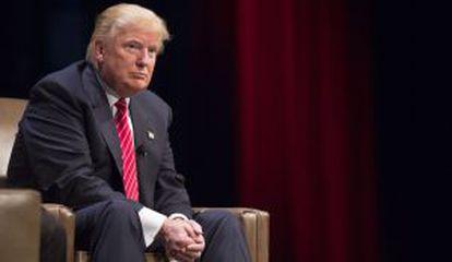 Donald Trump, el sábado en Iowa, donde dijo que McCain no era un héroe.