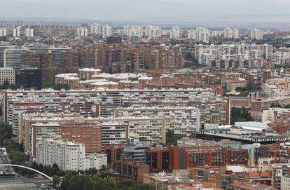 Vista aérea de Madrid desde Torrespaña.
