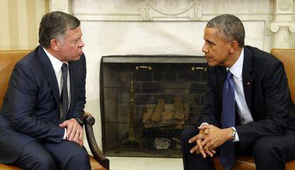 Abdalá y Obama, en la Casa Blanca.