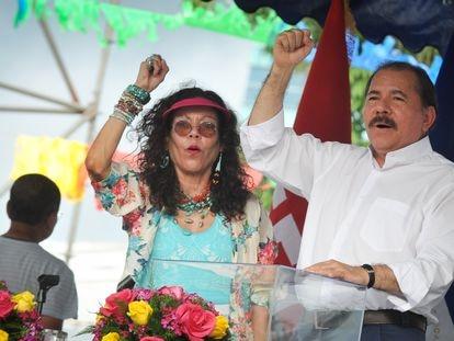 Rosario Murillo y Daniel Ortega, en Managua el 5 de julio de 2013.