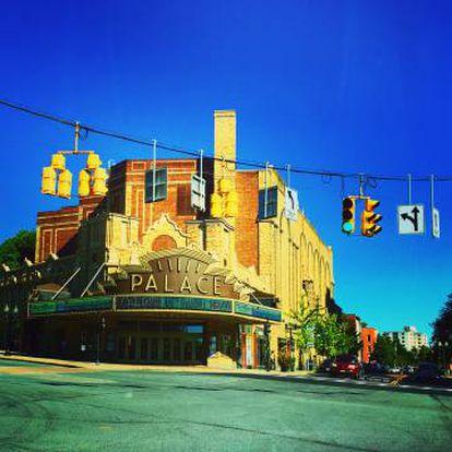 Cruce de calles en la ciudad de Albany (EE UU).