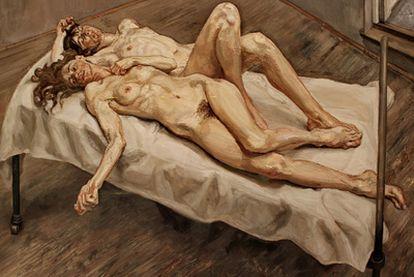 <i>Dos mujeres,</i><b> de Lucian Freud. 1992.</b>