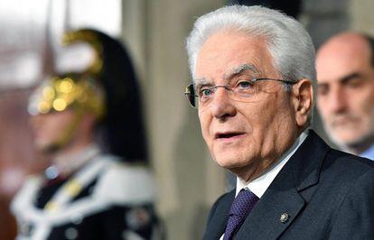 El presidente de Italia, Sergio Mattarella, en una imagen de 2019.