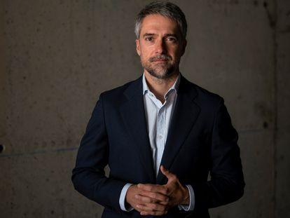 Carlos Franganillo, periodista en RTVE, fotografiado en Torrespaña.