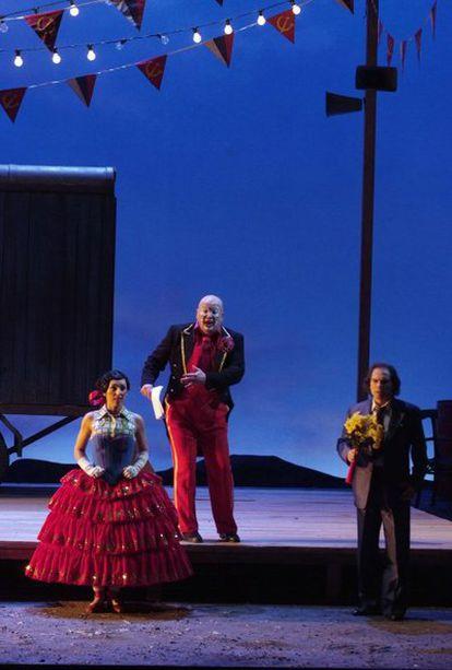 Ensayo general de la ópera <i>La novia vendida</i>, de Smetana, en el Palau de les Arts de Valencia.