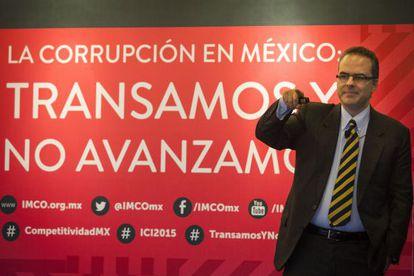 El director del Imco, durante la presentación