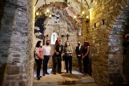 El Govern presenta en Sant Vicenç de Castellet (Barcelona) el listado de inmatriculaciones de la Iglesia.