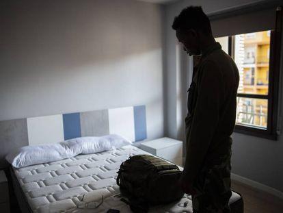 Mohamed, uno de los rescatados por el 'Aquarius', que ha visto rechazada su solicitud de asilo.