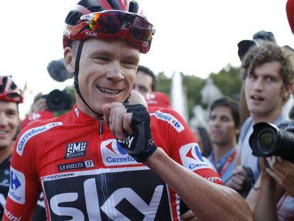 Froome, tras la llegada en la etapa de Madrid.