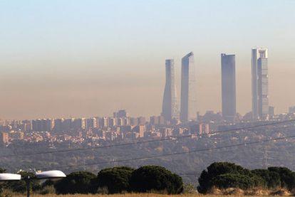 Madrid, envuelta en una nube de contaminación el pasado 27 de octubre.
