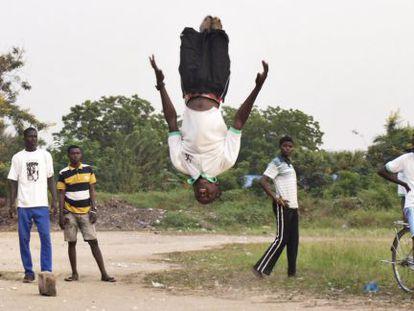 Entrenamiento de Capoeira en Adidome, Ghana.